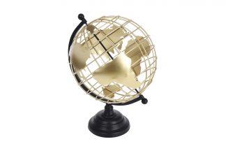 HZ2002800 Глобус декоративный золотой на мета...