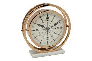 79MAL-5789-27G Часы настольные круглые на под...